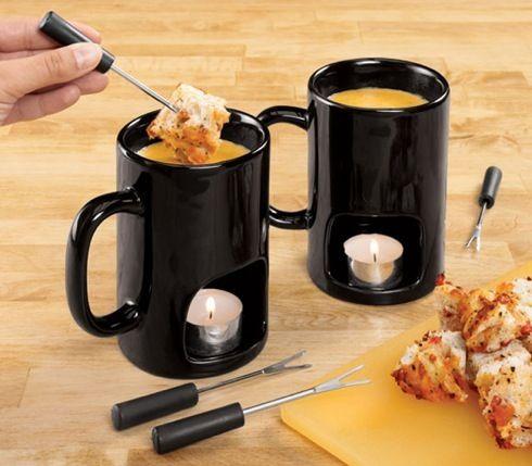おひとり様でもチーズフォンデュが手軽に楽しめるマグカップ【Personal Fondue Mugs】 - インテリアハック