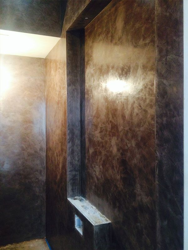 West Sus Marble Plastering Www Wsmplastering Co Uk A Lovely Chocolate Brown Venetian Plaster In Shower Room East Walls Hotel