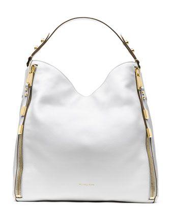 Michael Kors Miranda Zipper Shoulder Bag.