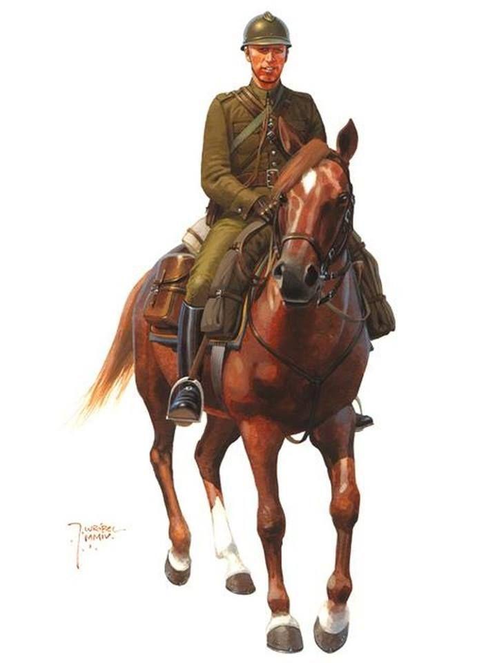Oficer kawalerii uzbrojony w pistolet VIS wz.35 i szablę oficerską wz.21/22 z pochwą, Rys. Jarosław Wróbel.