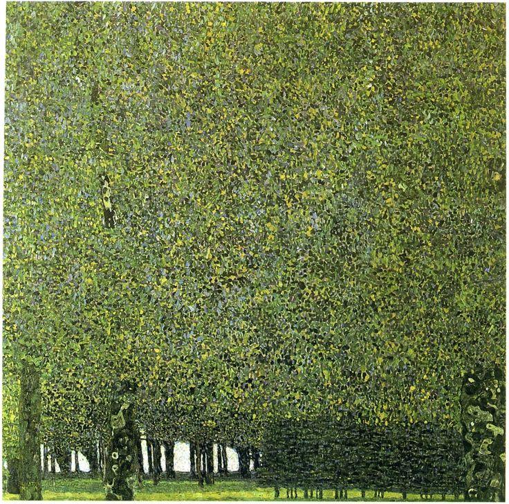 Gustav Klimt The Park 1909 -1910 from: yama-bato, bannannan & sealmaiden.