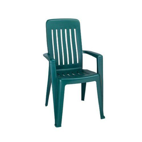 Adams Mission High Back Stacking Chair, Green