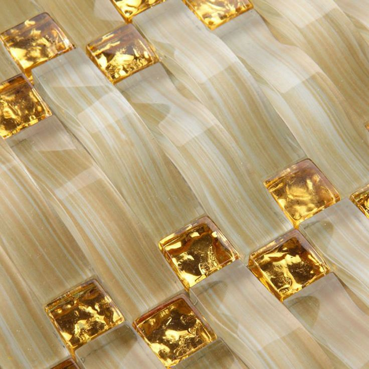 Glass tile sheets arch yellow pattern crystal mosaic kitchen backsplash floor interior design wholesale bathroom walls-in Mosaics from Home Improvement on Aliexpress.com