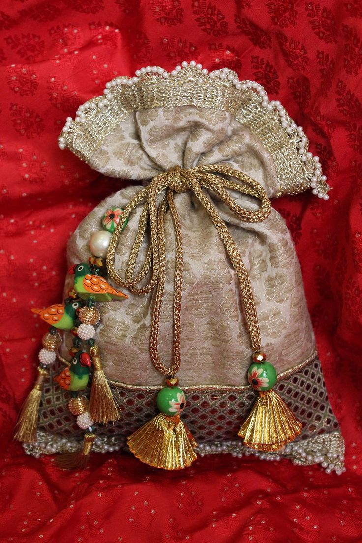 pretty parrot tassel potli bag! Indian ethnic bag!!