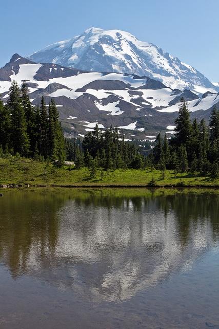 Mt Rainier from the Wonderland Trail.  Check