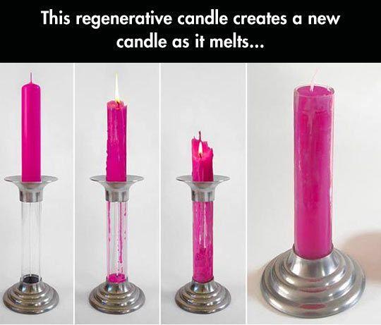 Regenerative candle // genius! #product_design