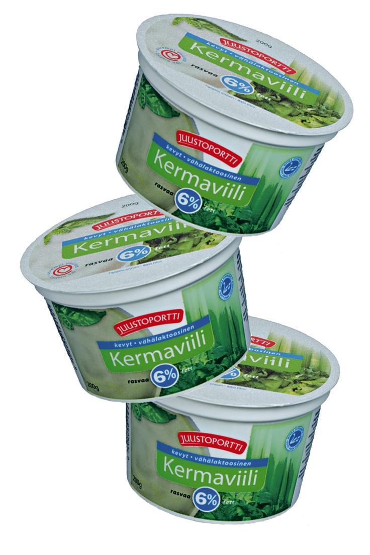 Juustoportin kevyt Kermaviili on vähälaktoosinen tuote, jossa rasvaa on ainoastaan 6%. Kevyt Kermaviili on täyteläisen raikasta. Laadukkaan raaka-aineen, suomalaisen maidon maku on siinä puhtaimmillaan. Kermaviili sopii mm. salaatinkastikkeiden tai dippikastikkeiden valmistukseen, leivontaan sekä ruoanlaittoon.