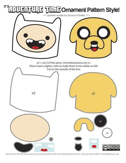 Adventure Time felt ornaments!!!