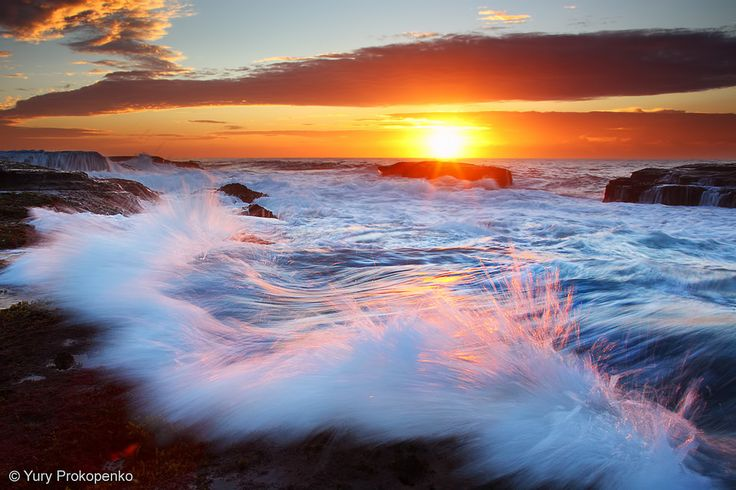 Mona Vale Sunrise, Mona Vale Beach, Sydney NSW, Australia.