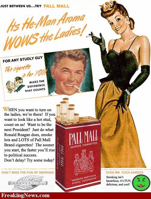 Pall Mall--Ronald Reagan smokes!