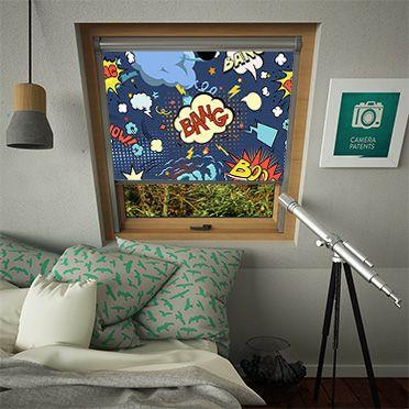 Comic Book (Fakro)|Skylight Blinds|LifestyleBlinds http://www.lifestyleblinds.com/graffiti-fakro-skylight-blinds.html