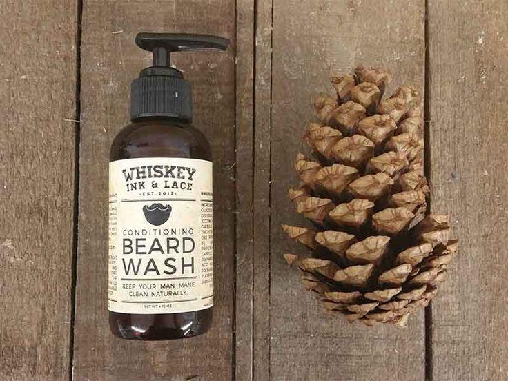 Beard Wash - Sulfate Free Beard Shampoo, Natural Shampoo for Beards, Lumberjack Beard Shampoo, Liquid Beard Wash, Paraben Free Beard Shampoo by WhiskeyInkandLace on Etsy https://www.etsy.com/listing/249151935/beard-wash-sulfate-free-beard-shampoo