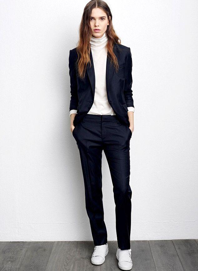 les 25 meilleures id es de la cat gorie tailleurs pantalon pour les femmes sur pinterest. Black Bedroom Furniture Sets. Home Design Ideas