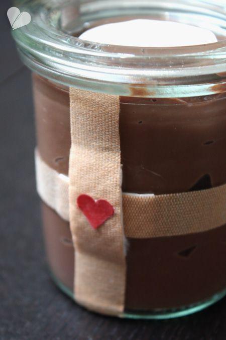 Schokoladenpudding für den Krankenbesuch