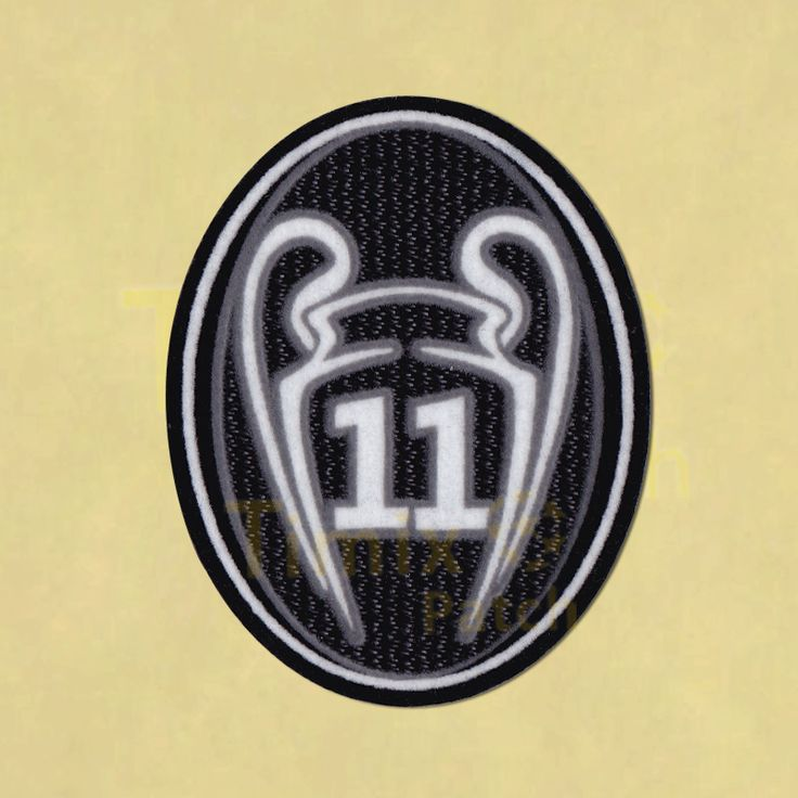 Real Madrid 2016 UEFA Champions League 11 Times Trophy Patch / TOPPA Badge | 3D Flock Patch