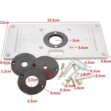 235mm x 120mm x 8mm Aluminum Router Table Insert Plate For Woodworking Benches Sale - Banggood.com