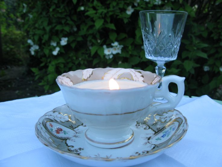 The sun fades on this gorgeous Regency enameled footed teacup and saucer c 1835