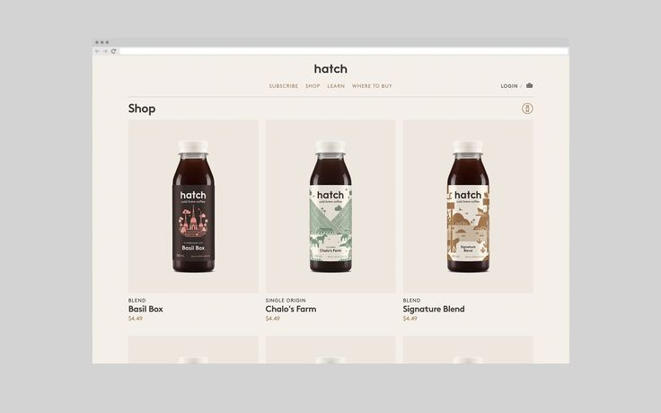 Brand identity and website by graphic design studio Tung for Toronto coffee roaster Hatch