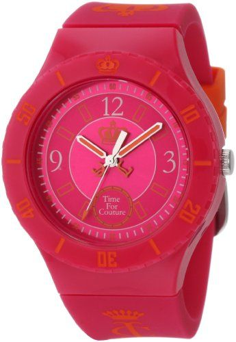 """Juicy Couture Women's 1900823 """"Taylor"""" Hot Pink Jelly Strap Watch Juicy Couture,http://www.amazon.com/dp/B005I6Z1ZA/ref=cm_sw_r_pi_dp_t37Wsb003JR88SK4"""