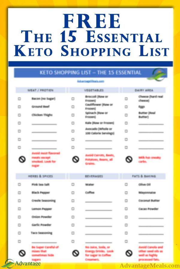 15 Keto Essentials Shopping List - Printable & Free