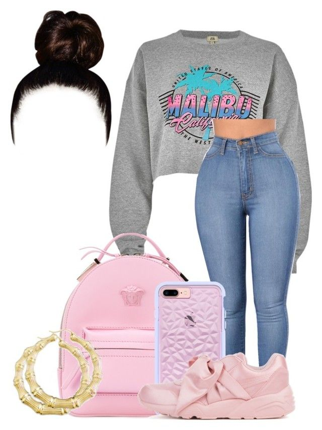 """Untitled #254"" by fashionqueenforevs on Polyvore featuring River Island, Versace and Puma"