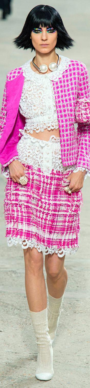 Chanel - Spring 2014. Pink tweed jacket & skirt.