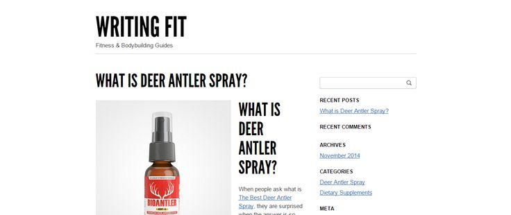 What is Deer Antler Spray? | Writing Fit