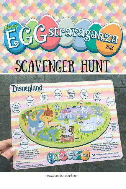 Disneyland Egg-Stravaganza Scavenger Hunt 2018