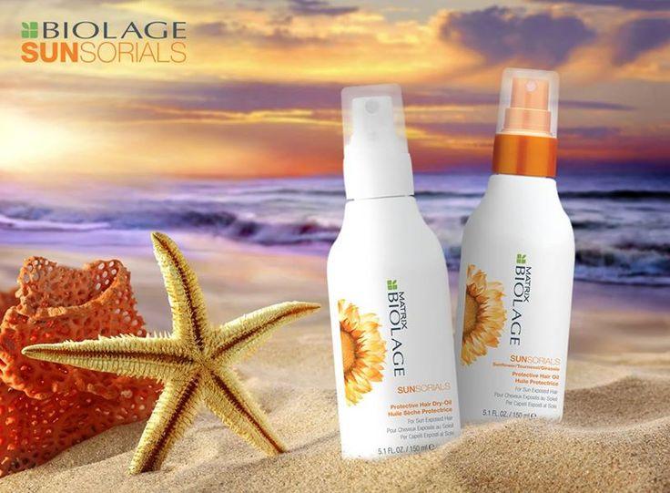 Matrix Professional Haircare & Color In vacanza proteggi i tuoi capelli da secchezza e doppie punte e dona loro brillantezza e nutrimento con i prodotti Sunsorials!