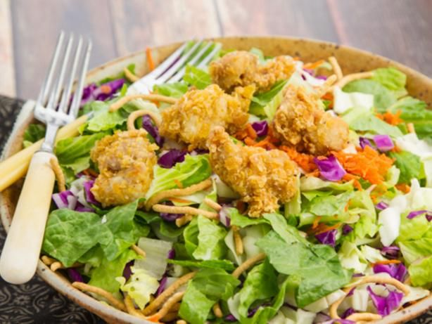 This Oriental Chicken Salad recipe from Food.com offers all of the best Asian flavors in one ultimate summer side dish.