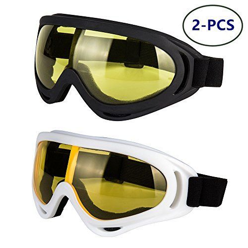 Glasses Set of 2 Dirt Bike ATV Motocross Anti-UV Adjustable Riding Offroad Protective Combat Tactical Military Goggles for Men Women Kids Youth Adult LJDJ Motorcycle Goggles