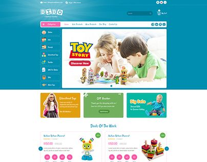 """Check out new work on my @Behance portfolio: """"BiboStore - Kids and Baby Shop"""" http://be.net/gallery/54274997/BiboStore-Kids-and-Baby-Shop"""