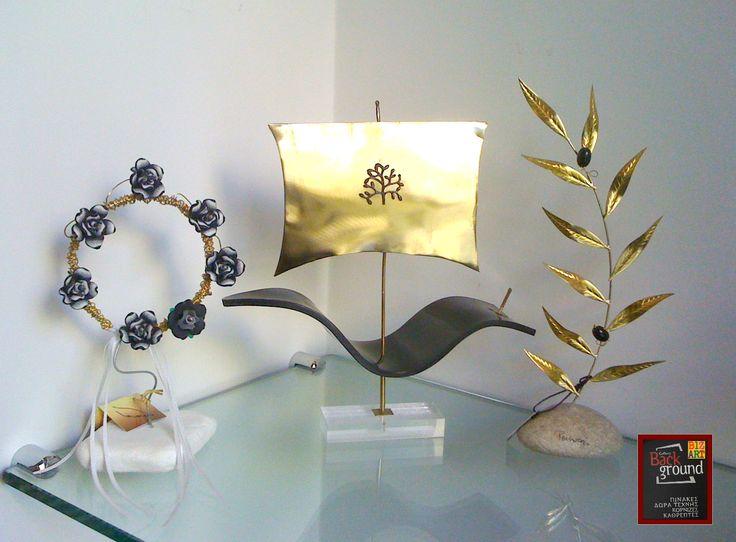 #Χειροποίητα #διακοσμητικά για μια ξεχωριστή γωνιά στο σπίτι ή το γραφείο! :) #μέταλλο #plexiglass #πηλός #βότσαλο