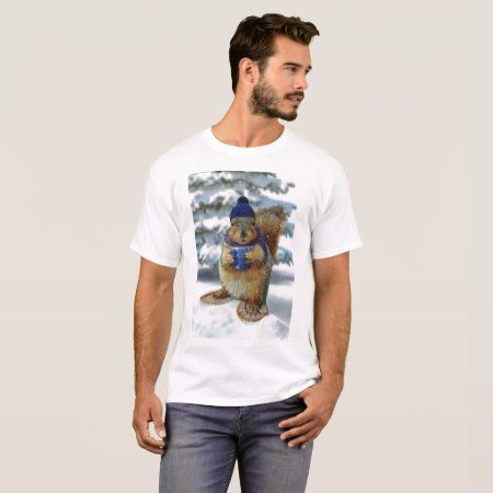 Winter Squirrel T-Shirt - tap, personalize, buy right now!