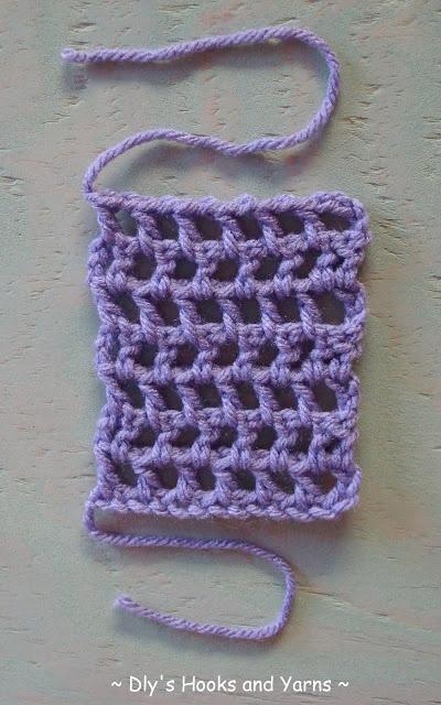 Crochet Stitches Lattice : lattice stitch