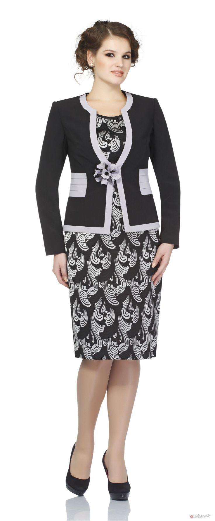 Юбочный костюм /комплект Пама Стиль 548 чёрный