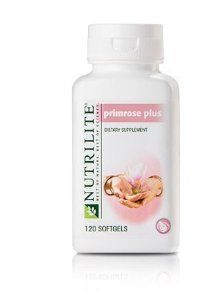 Nutrilite® Primrose Plus, Alivio Premenstrual, Vitaminas Para Mujeres  Brinda un alivio para el síndrome premenstrual. Usa hierbas naturales para disminuir sutilmente las frustraciones del SPM. Contiene aceite de prímula y de borraja, ambos excelentes fuentes de ácido gamalinolénico; la ciencia confirma que puede aliviar las tensiones premenstruales.