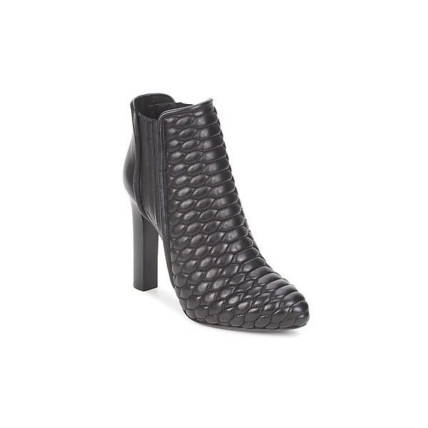Roberto Cavalli WDS227 Low Ankle Boots (1,085 CAD) ❤ liked on Polyvore featuring shoes, boots, ankle booties, black, ankle boots, short boots, low ankle boots, black bootie and black ankle booties