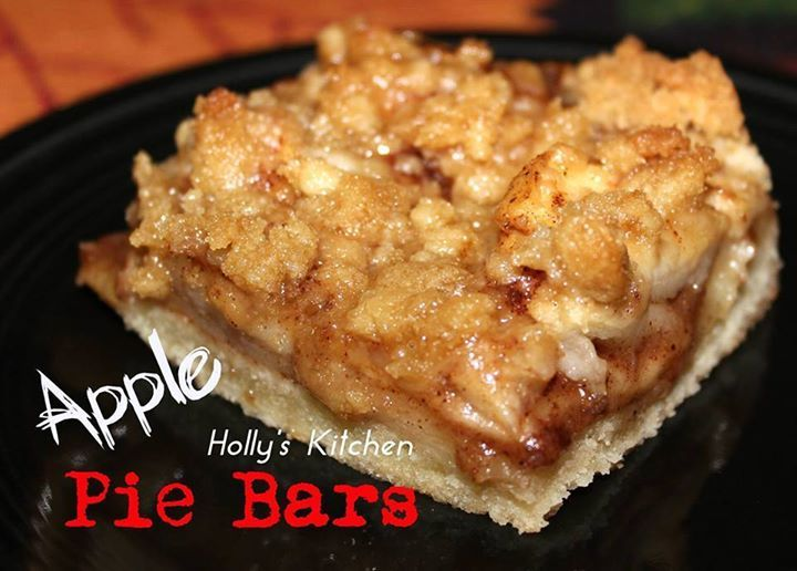 Apple Pie with a twist!!!! You MUST try this one!!!!    APPLE PIE BARS (Y)  ★¨`*•♫.•Pass it on!! Give someone else a reason to smile. ♫ ..•* ★   For the Crust you will need: 1 egg 2 sticks of butter softened 1/2 cup sugar 2 cups of flour 1/2 tsp salt  For the Filling you will need: 4 large apples, peeled, cored and sliced 4 tablespoons melted butter 1/2 Cup brown sugar 2 tsps cinnamon 1/2 tsp nutmeg For the Topping you will need : 2/3 cup brown sugar 2/3 cup flour 4 tablespoons butter ...