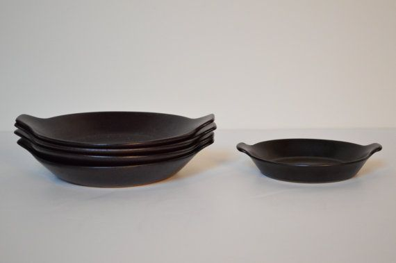 Danish Modern Dishes from Gustavsberg Sweden - Flameldfast Terma Design   Five Danish Modern baking dishes from maker of note. The manufacturers mark on the bottom reads Terma Flameldfast. Other pieces available.   GalaxieModern.com etsy.com/shop/GalaxieModern 434.846.0077