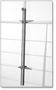 Avali: hold-it – Schirmhalter aus Edelstahl für Sonnenschirme an Geländer auf Balkon und Terrasse