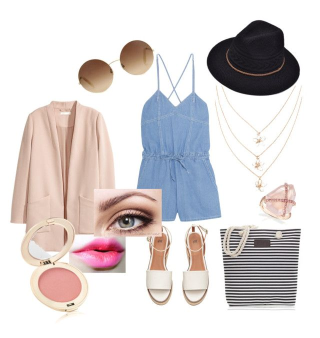 """Beach day outfit 2"" by fcong ❤ liked on Polyvore featuring SJYP, Victoria Beckham and Jane Iredale"