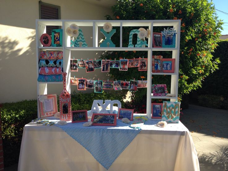 Alpha Chi Omega Recruitment (Philanthropy Day) Display