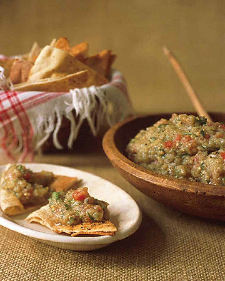 Eggplant Caviar - An old Russian favorite, this dish goes perfectly atop pita bread or served as a dip. Source: Martha Stewart Living, March 2001
