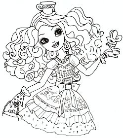 Free Printable Ever After High Coloring Pages Madeline Hatter Ever