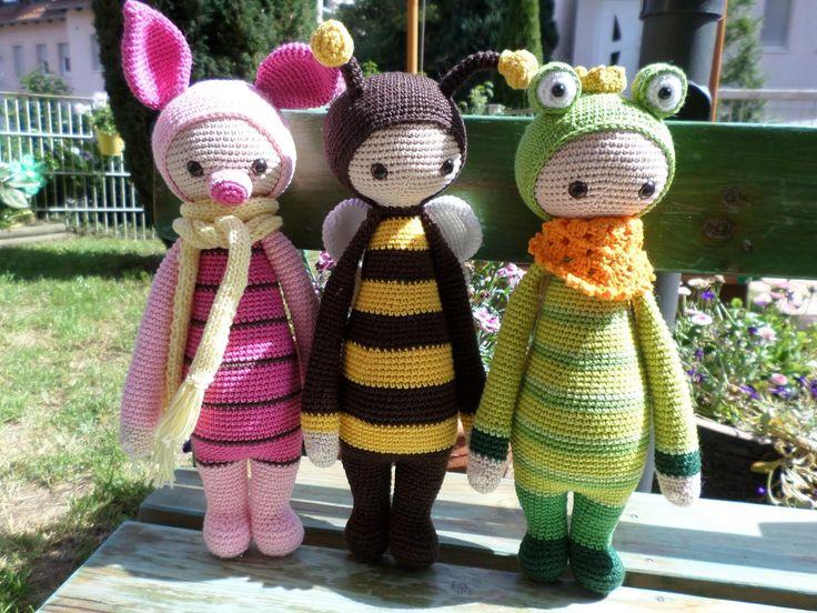 lalylala mods made by Denise J. / based on lalylala crochet patterns