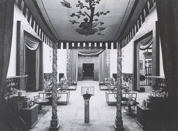 The Swedish National Pavilion in Paris 1925, designed by architect Carl Bergsten