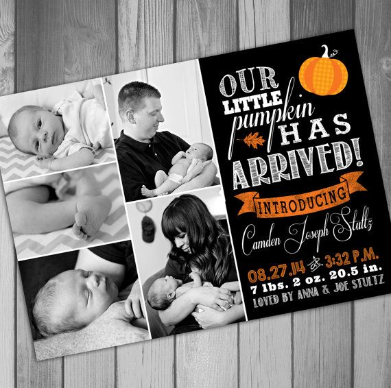 Birth Announcement Photo Birth Announcement Baby by CLaceyDesign, $15.00