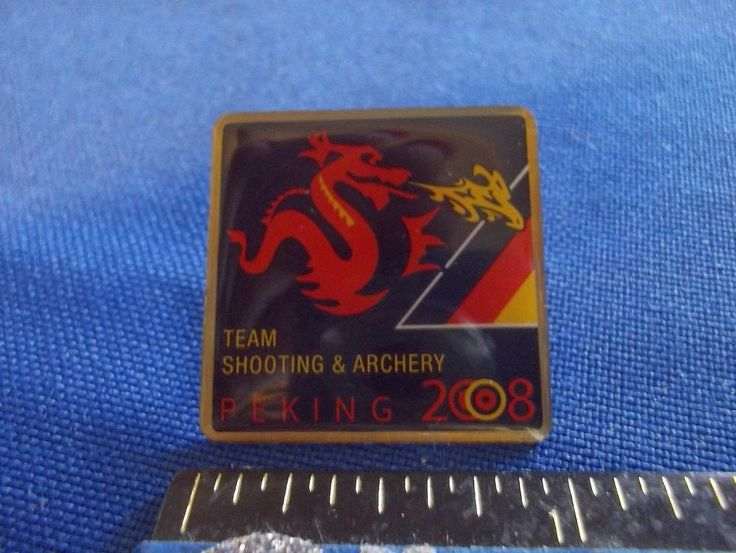 2008 Beijing Olympic NOC Germany Archery and Shooting Pin Dated