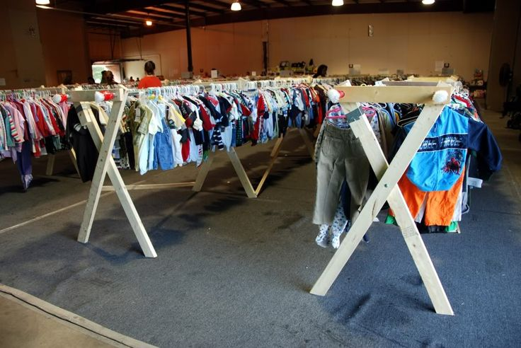 Make clothes racks...tickles giggles racks